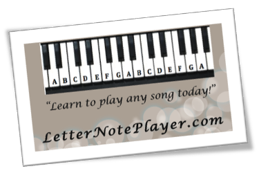 Piano piano tabs with letters : Letter Note Player
