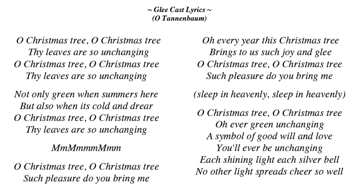 Image Of O Christmas Tree Lyrics German O Tannenbaumsong Lyrics With